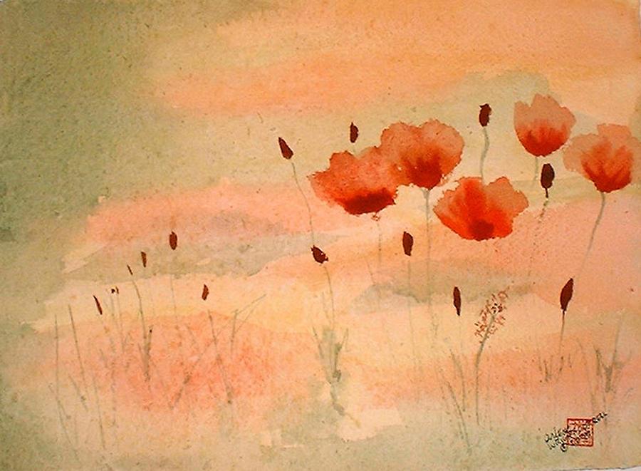 Zen Poppies Painting
