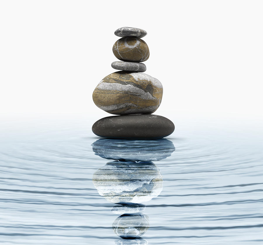 Zen Stones In Water PhotographZen Water Images