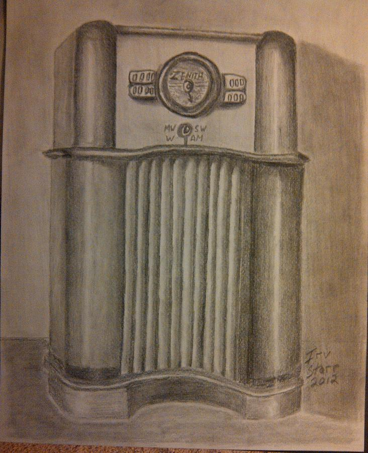 Zenith Radio Drawing  - Zenith Radio Fine Art Print
