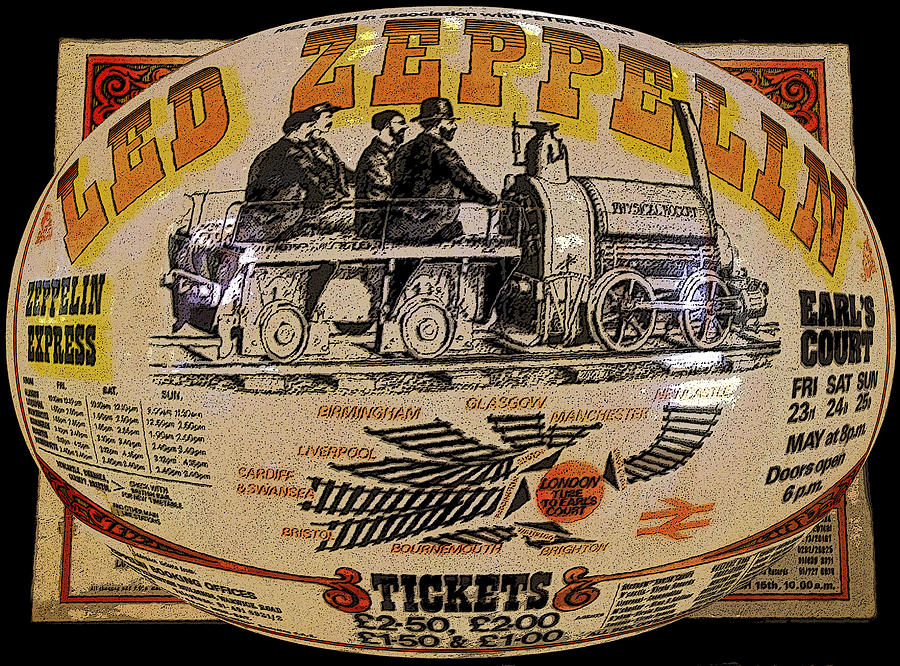 Zeppelin Express Work B Painting  - Zeppelin Express Work B Fine Art Print