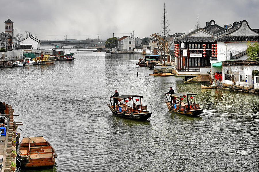 Zhujiajiao - A Glimpse Of Ancient Yangtze Delta Life Photograph
