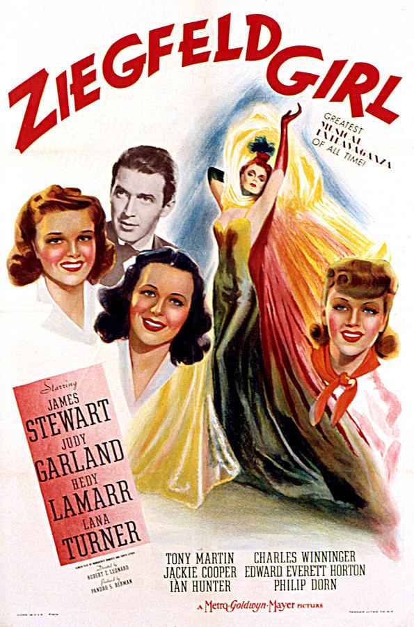 1940s Movies Photograph - Ziegfeld Girl, Judy Garland, James by Everett