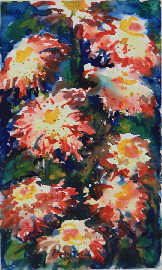 Zinnia  Sonata Vii Painting