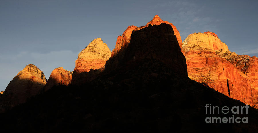Beauty Photograph - Zion The Great Wall by Bob Christopher