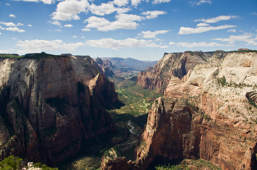 Zion Valley From Observation Point - Color Photograph