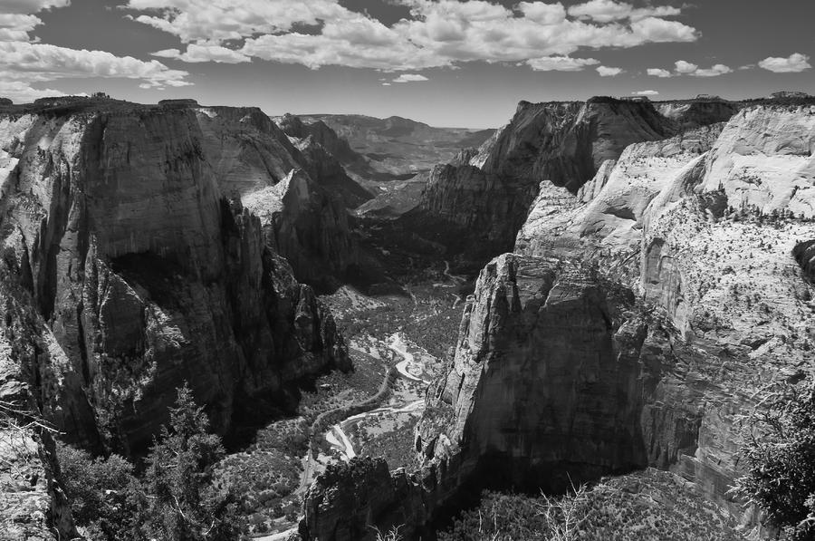 Zion Valley From Observation Point Photograph  - Zion Valley From Observation Point Fine Art Print