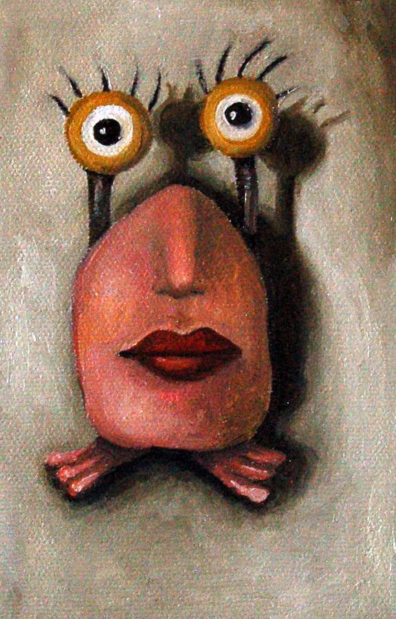 Zoe 1 Little Alien Painting  - Zoe 1 Little Alien Fine Art Print