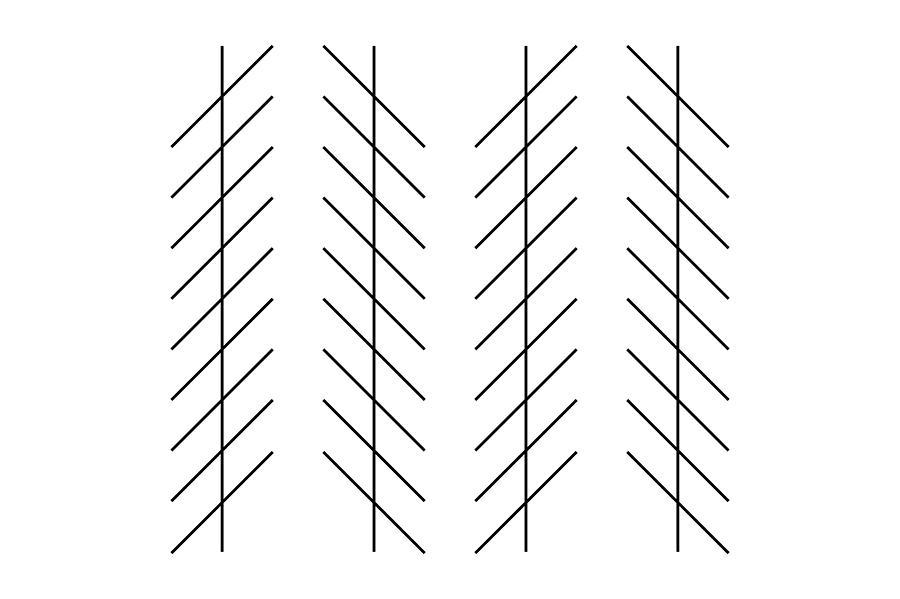 Zoellner Illusion Photograph