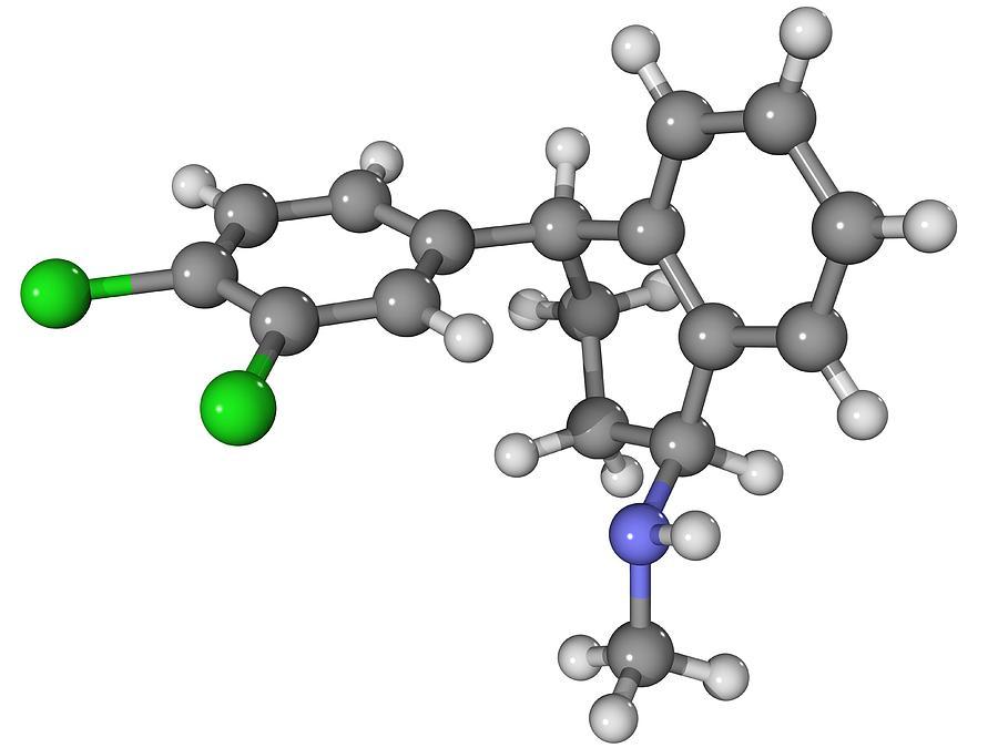 Zoloft Antidepressant Drug Molecule Photograph
