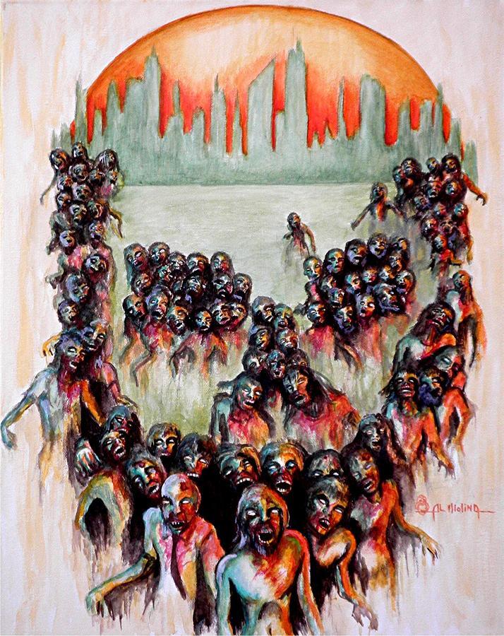 Zombie Apocalypse Painting