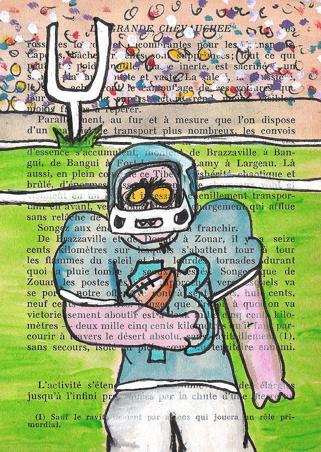 Zombie Football Painting