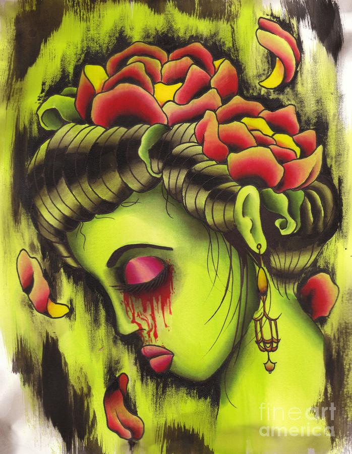 Zombie Girl No2 Painting
