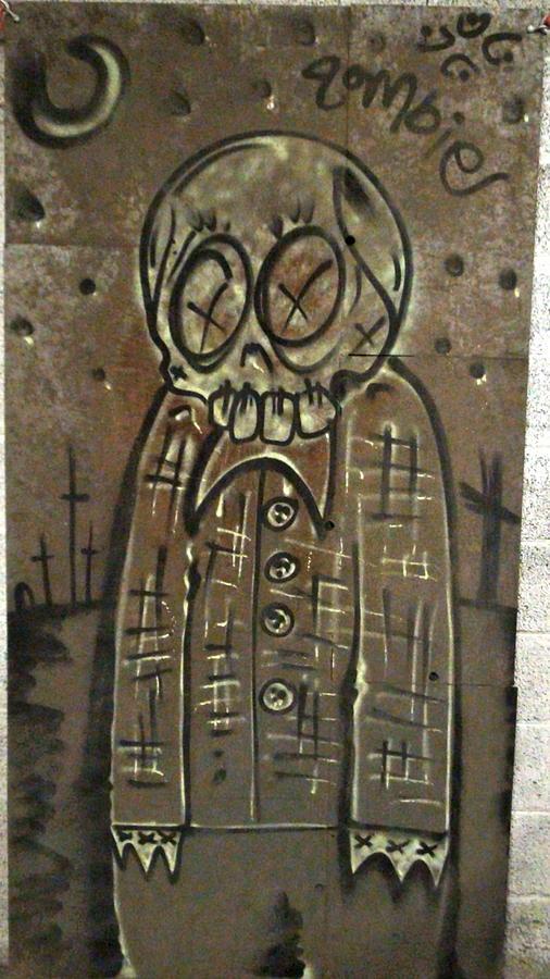 Zombie Metal Painting