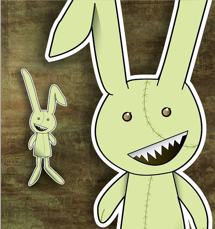 Zombie Rabbit Drawing