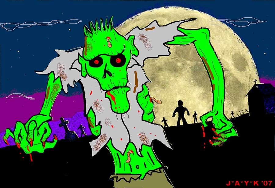 Zombies Drawing  - Zombies Fine Art Print