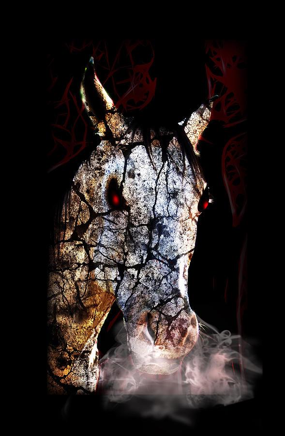 Zombified Horse Mixed Media