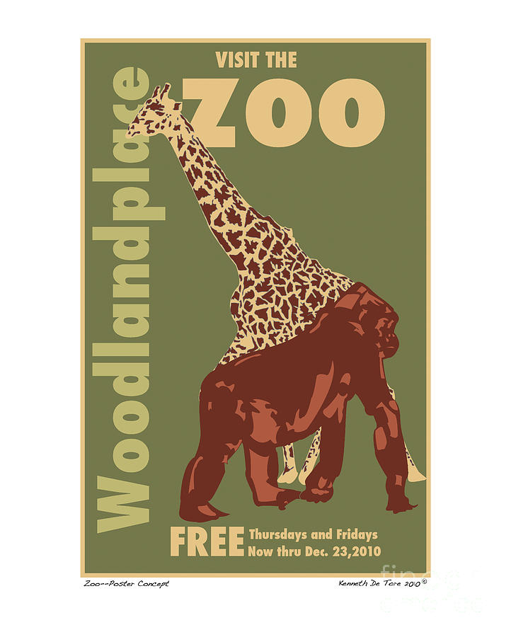 Zoo Poster Digital Art  - Zoo Poster Fine Art Print