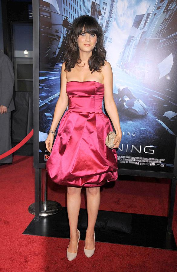 New York Premiere Of The Happening Photograph - Zooey Deschanel At Arrivals For New by Everett