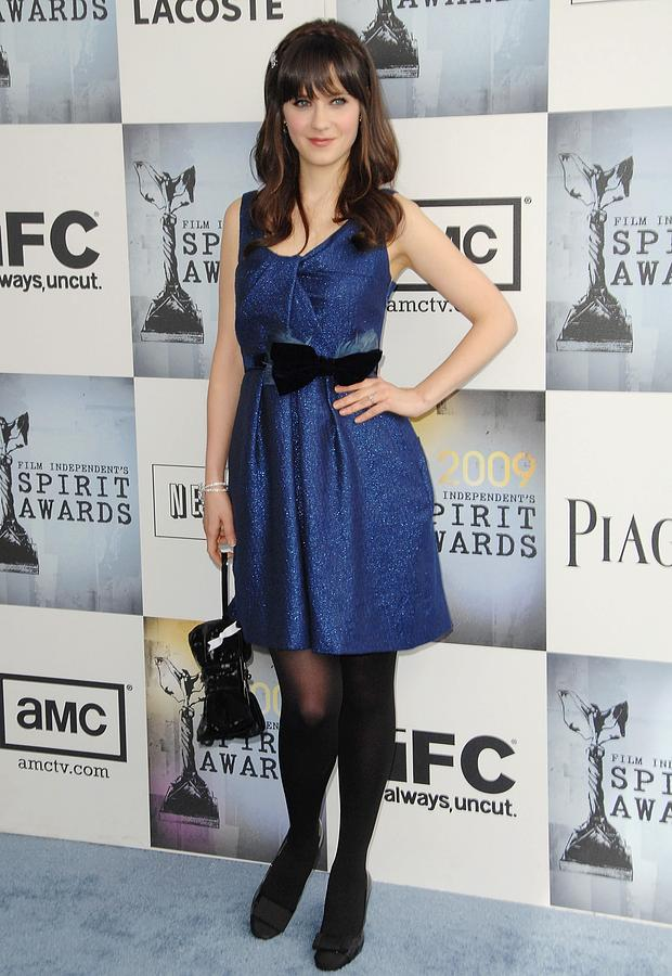 Zooey Deschanel Wearing A Lela Rose Photograph  - Zooey Deschanel Wearing A Lela Rose Fine Art Print