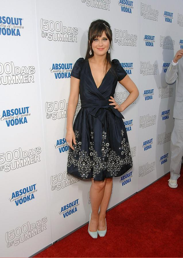 Zooey Deschanel Wearing A Naeem Khan Photograph