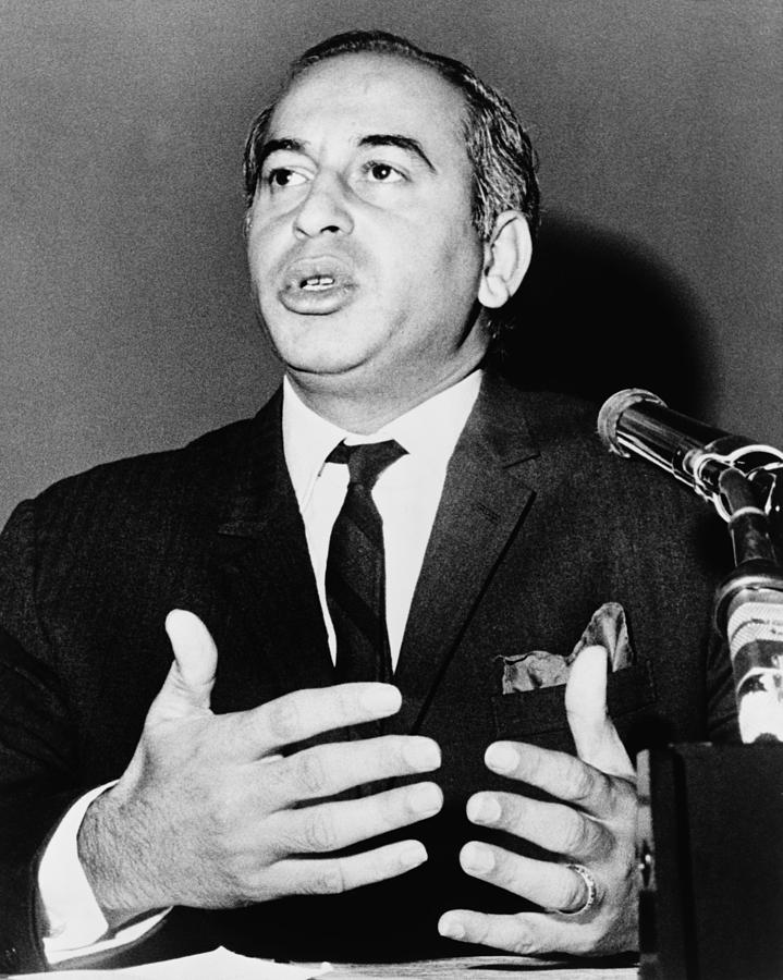 Zulfikar Bhutto At A 1965 Press Photograph