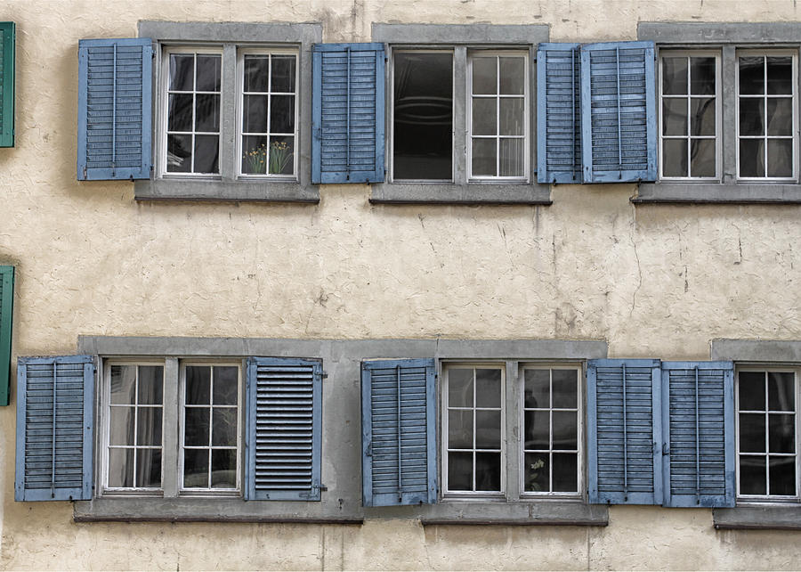 Zurich Window Shutters Photograph  - Zurich Window Shutters Fine Art Print