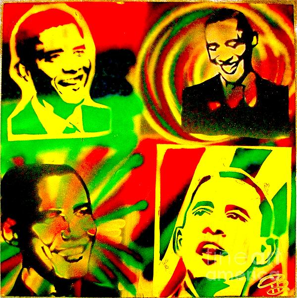 4 Rasta Obama Print by Tony B Conscious