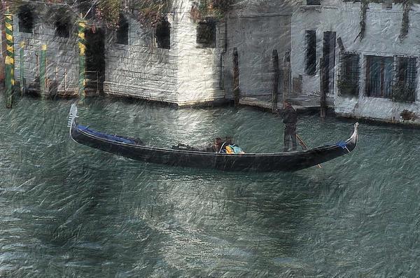 Heinz G Mielke -  Gondola in Venice Italy digital oil painting