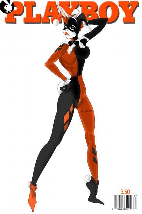 Harley In Playboy Painting