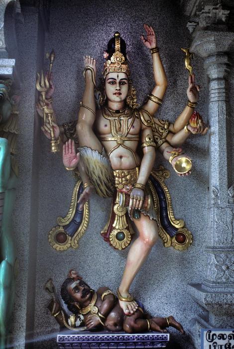 Hindu God Kali Print by Carl Purcell