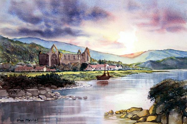 Late Evening At Tintern Abbey By Glenn Marshall