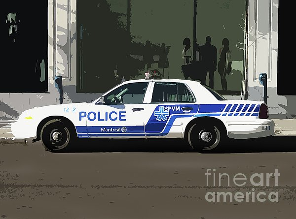 Montreal Police Car Poster Art Print by Reb Frost