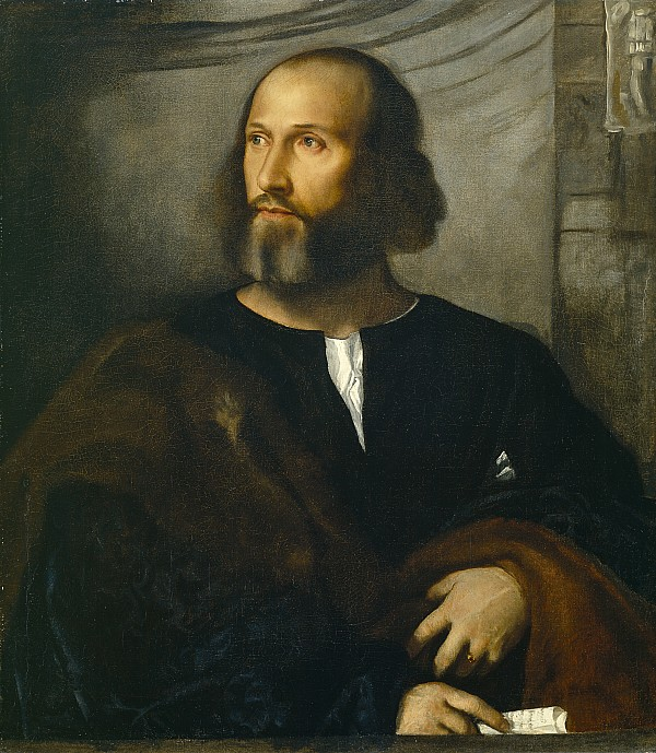 Portrait Of A Bearded Man Print by Titian