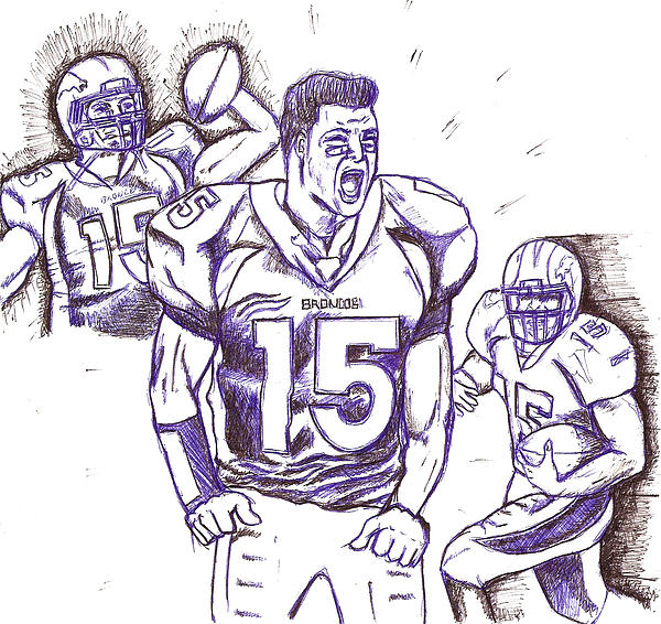 Tebow Time Let's Go  Print by HPrince De Artist