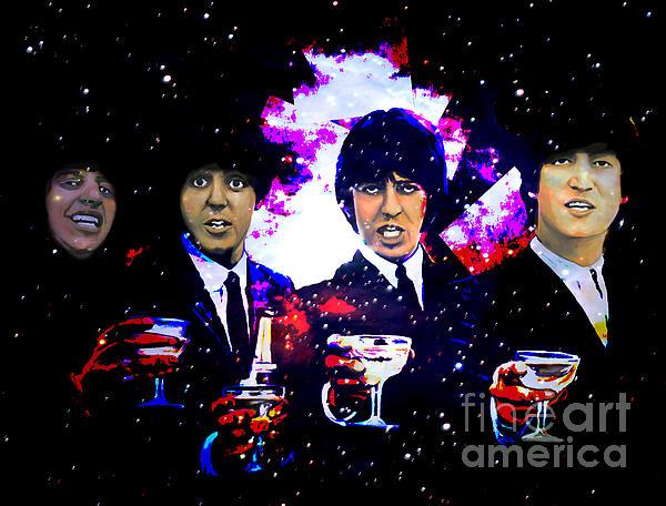 The Beatles Print by Andrzej Szczerski