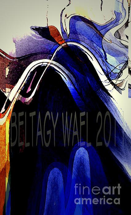 The Blue Wave Print by Beltagy Beltagyb
