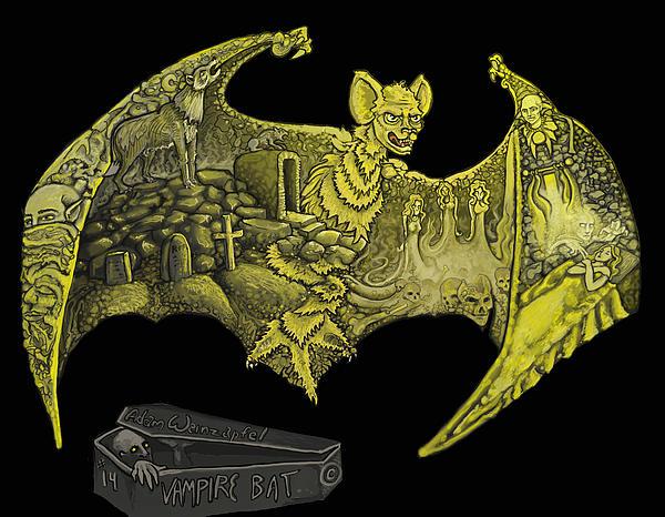 Vampire Bat Print by Adam Weinzapfel