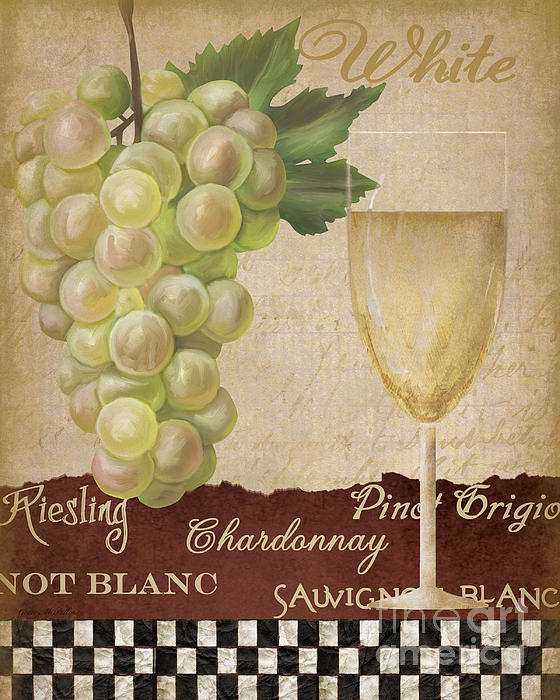 White Wine Collage Print by Grace Pullen
