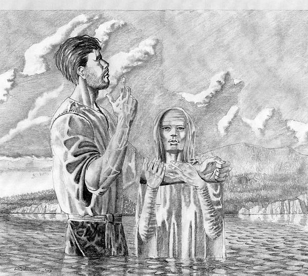 003 John The Baptist Print by James Robinson