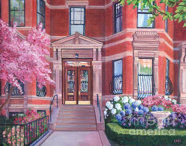 238 Marlborough Street Print by Laura DeDonato