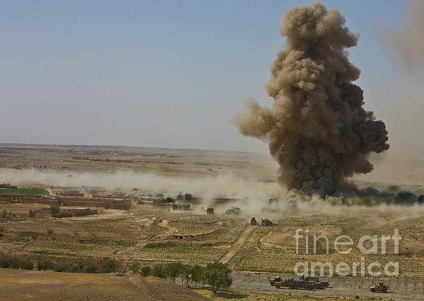 A Cloud Of Dust And Debris Rises Print by Stocktrek Images