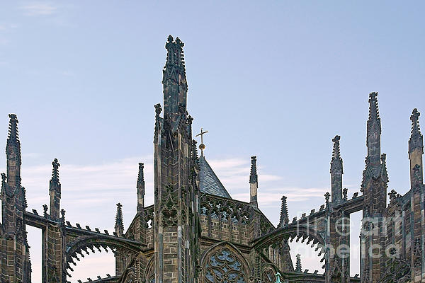 A Forest Of Spires - St Vitus Cathedral Prague Print by Christine Till