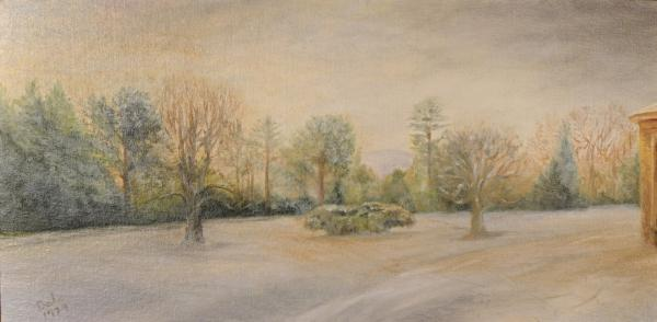 A Snowy Morn At Dalhebity Painting