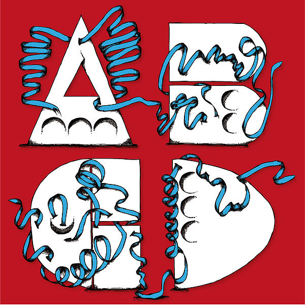 Abstract Abcd Print by Michaela Mitchell