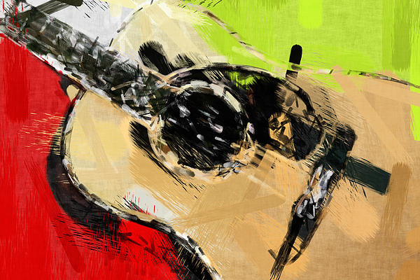 Abstract Acoustic Print by David G Paul