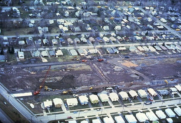 Aerial View Of Clean Up Operations Print by Everett