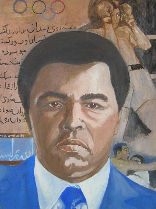 Ali Print by Nigel Wynter