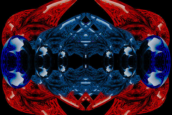 Alien Bauble Print by Christopher Gaston