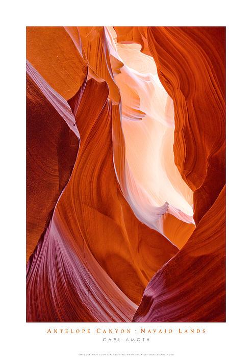 Antelope Canyon Print by Carl Amoth
