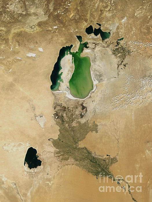 Aral Sea Print by NASA / Science Source